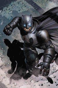 Batman standing on his knees